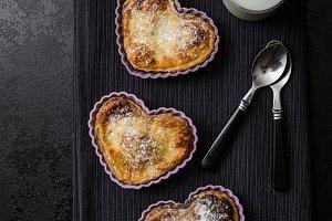 Valentine's Day mini heart-shaped tart
