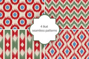 ikat seamless patterns