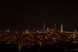 Night view Of Cityscape .