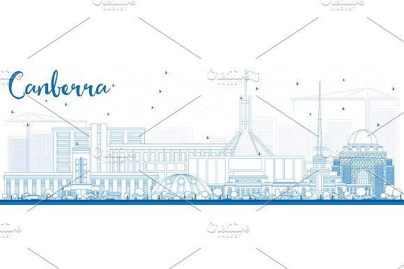 Outline Canberra Skyline