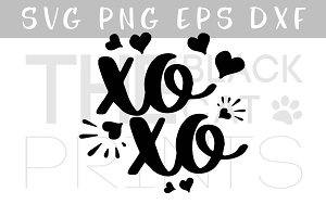 XOXO Hugs and kisses SVG PNG EPS DXF