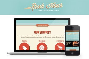 Rush Hour - One Page HTML