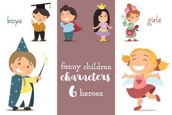 6 Funny CHILDREN Characters