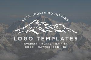 Iconic Mountain Logo Templates Vol 1