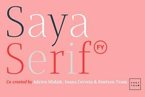 Saya Serif FY Medium Italic