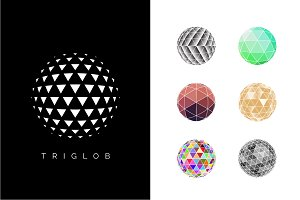 Polygon Globe Icons