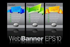 Abstract Shiny Glass Banners