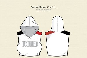 Women Hooded Crop Tee