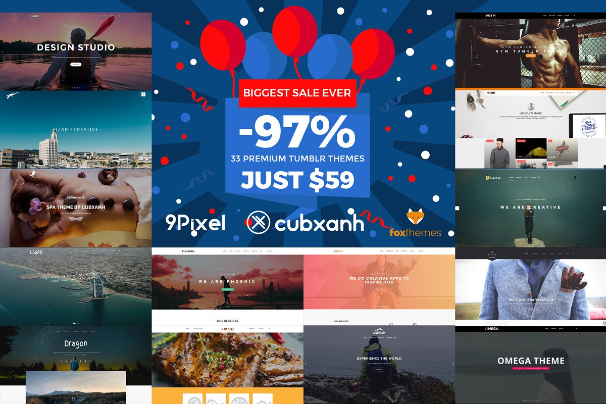 33 Premium Tumblr Themes - SAVE 97%