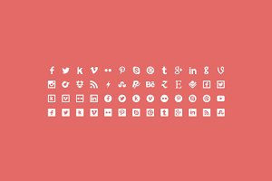 Flaticons Social - 52 icons + Font