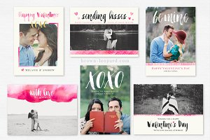 Set of Valentine's Day Cards - 5x7""