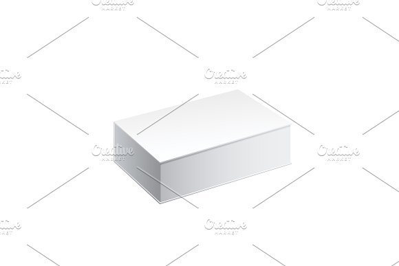 Realistic White Package Box