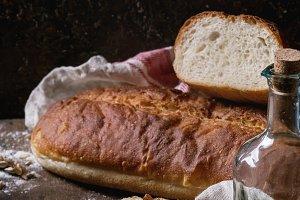 Homemade white wheat bread