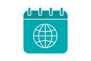 International calendar glyph color icon