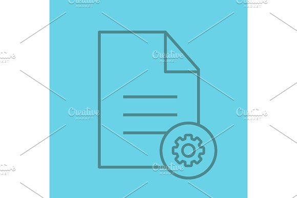 Document Settings Linear Icon