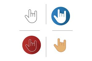 Heavy metal gesture icon