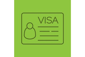 Travel visa linear icon