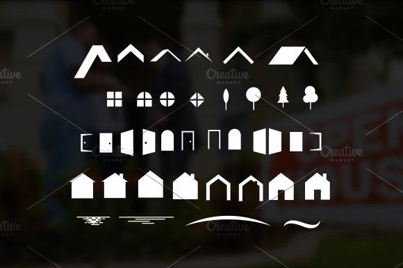 House Shape For Real Estate Logo