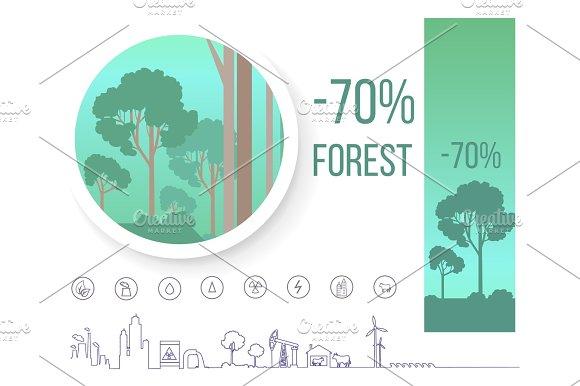Poster Devoted Problem Of Deforestation On Earth