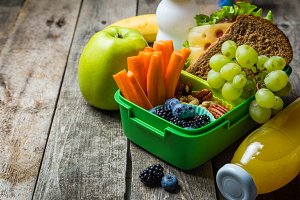 Healthy school lunch box