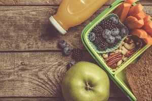 Healthy school lunch box