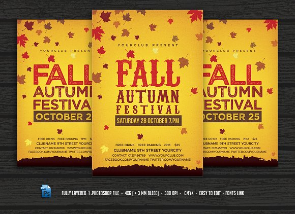 Fall Autumn Festival Flyer