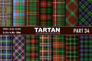 Seamless  Tartan Pattern Part - 34