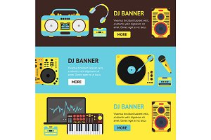Dj Audio Music Equipment Banner