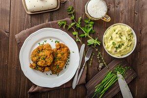 Schnitzel with herbs,