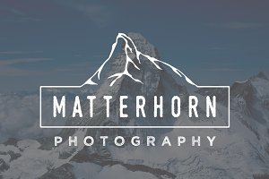 Matterhorn Mountain Logo Template