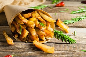 Spicy french fries.