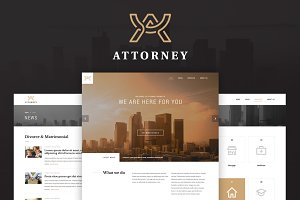 Attorney responsive PSD template
