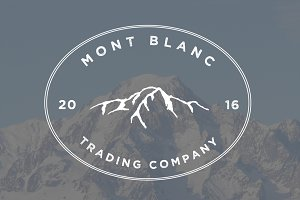 Mont Blanc Logo Template