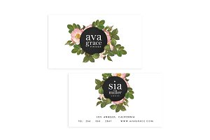 Vintage Roses Business Card Template