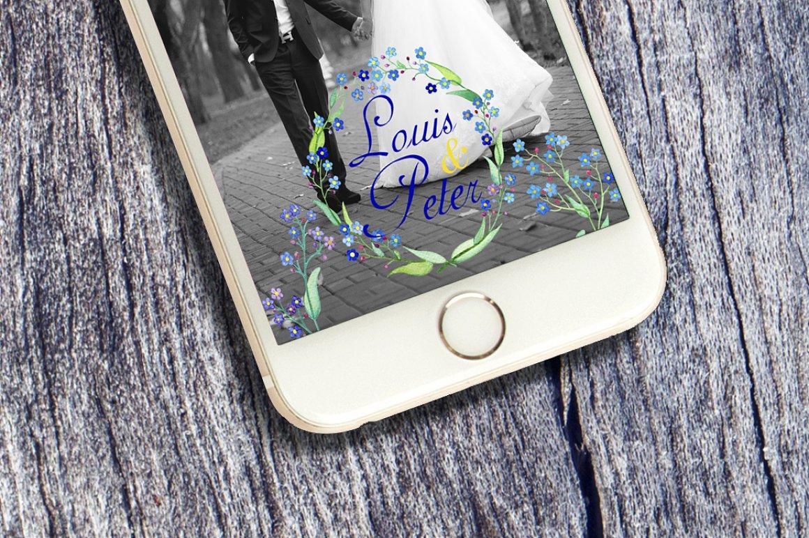 Flower Wedding Snapchat Geofilter