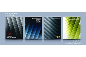 Business vector set template, brochure design, abstract annual report,