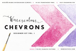 59 Watercolor Chevrons
