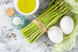 Fresh green asparagus