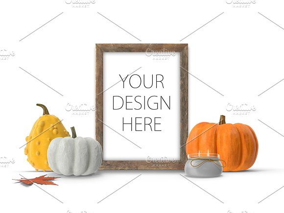 Frame Mockup Fall Autumn Theme