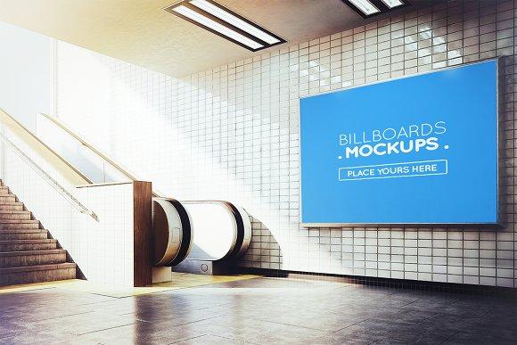 Subway Billboard Mockup #39