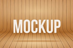 Vector Wood Mockup Background 1