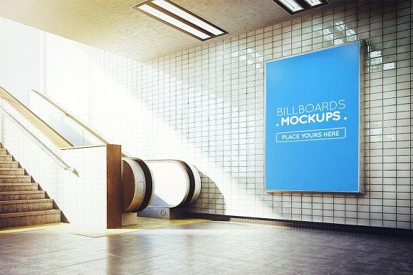 Subway Billboard Mockup #40