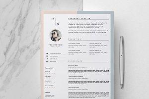 CV Design & Cover Letter / Melanie