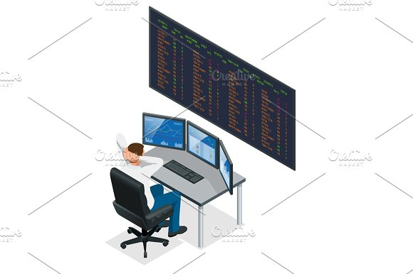 Analyzing Data Graphs And Reports For Investment Purposes Creative Teamwork Traders Businessmen Trading Stocks Online Stock Brokers Looking At Graphs Indexes And Numbers On Multiple Computer Screens