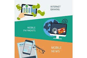 Mobile news, payments and internet