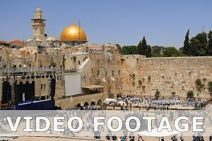 Western Wall in Jerusalem Jewish sacred place