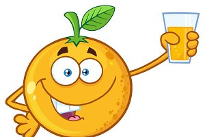 Orange Fruit Mascot Character