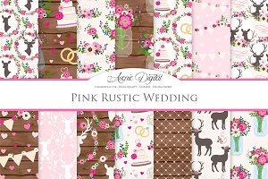 Hot Pink Rustic Wedding Patterns