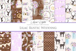 Lilac Rustic Wedding Patterns