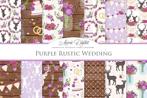 Purple Rustic Wedding Patterns